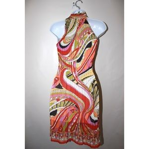 Dresses - Vintage Psychedelic Colorful 70's Halter Dress